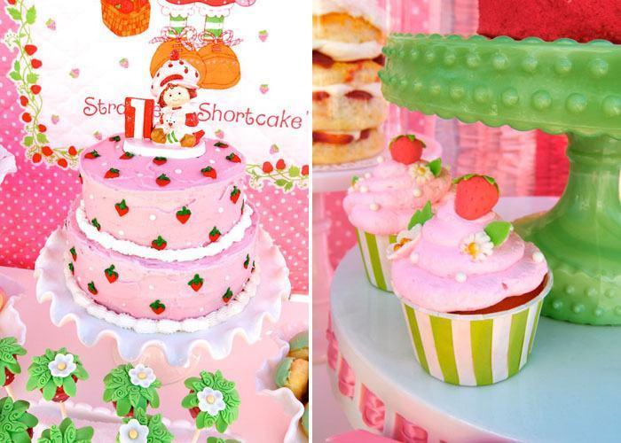festa moranguinho cupcakes