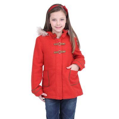 casaco vermelho menina