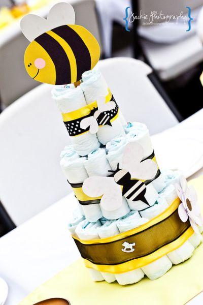 bolo de fraldas abelha