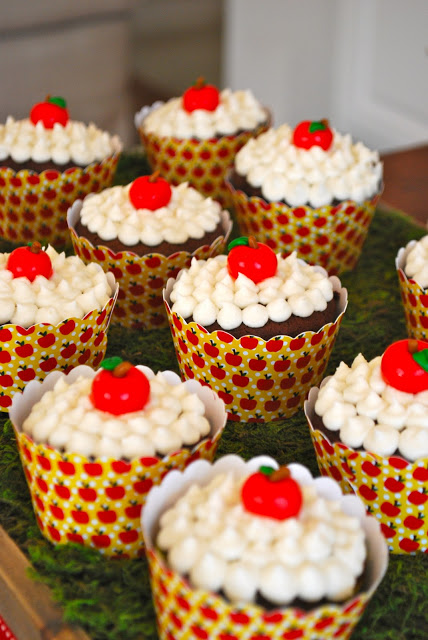 cupcakes festa Branca de Neve