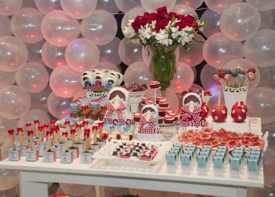 festa matrioska decoração