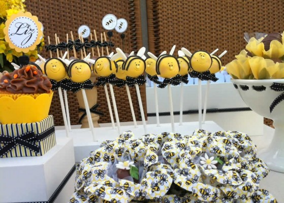 festa abelha decoração