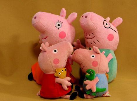 peppa pig família pelúcia