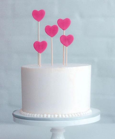 bolo de aniversario coração