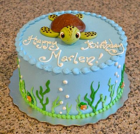 bolo de aniversario fundo do mar