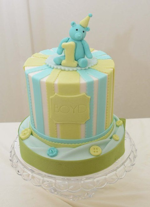 bolo de aniversario urso
