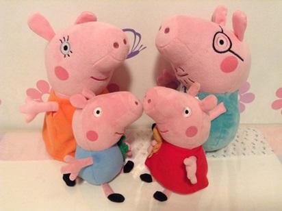 A família Pig, igualzinha à que Catarina tem! Os bonecos têm tamanho ideal para as crianças!
