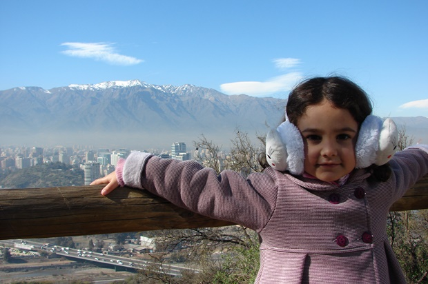 A linda Lorena em Santiago