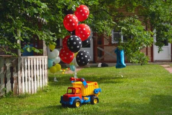 decoração de aniversário tema caminhão