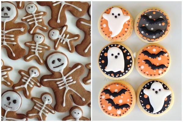 biscoitos de halloween