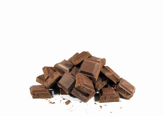 tabletes de chocolate preto