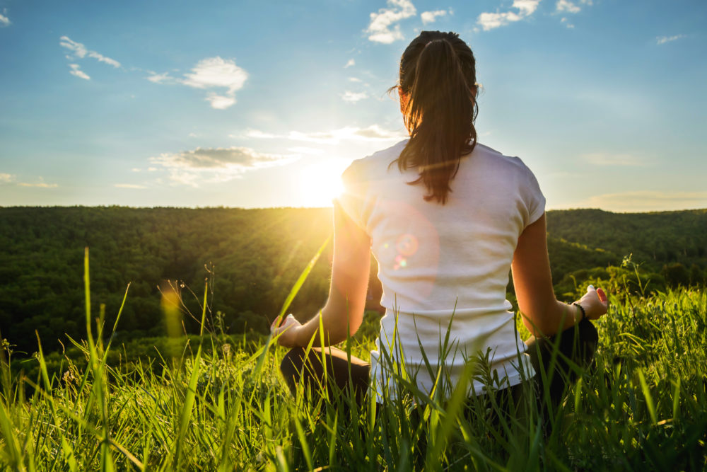 Meditando na natureza
