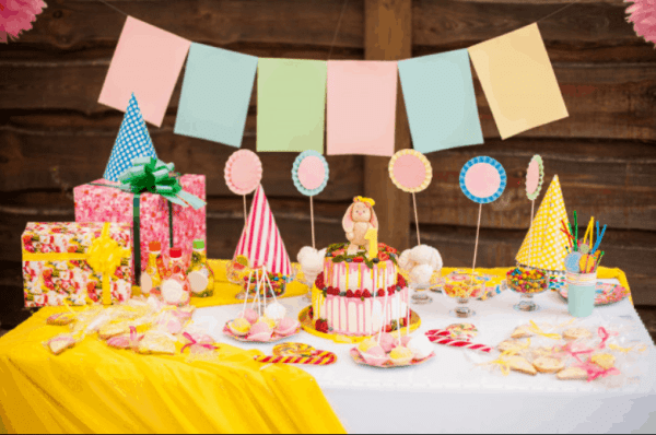 mesa infantil para festa