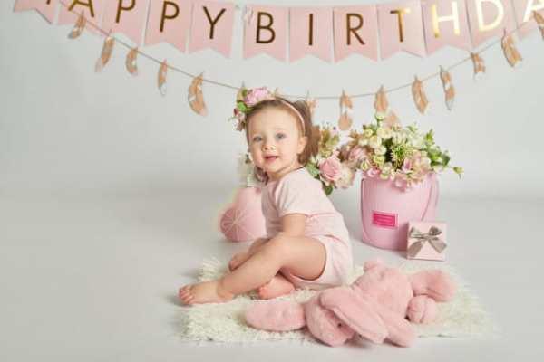 aniversário de 1 ano rosa