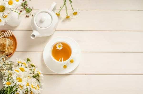 Chá de camomila e mel