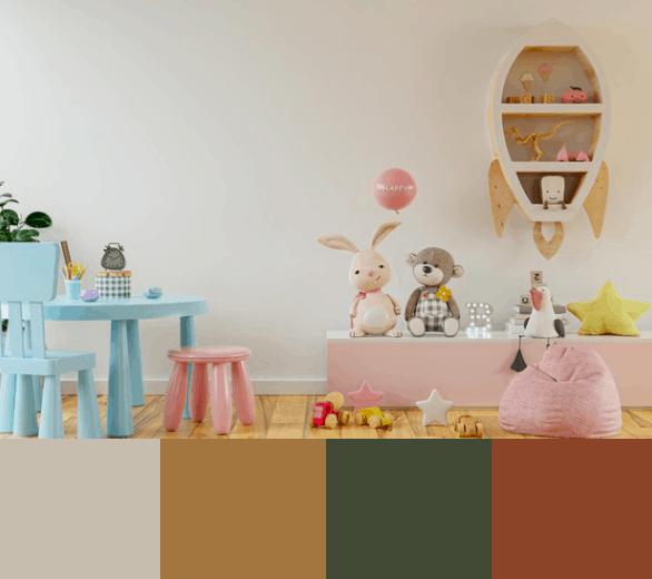 papel de parede para decorar quarto de bebê