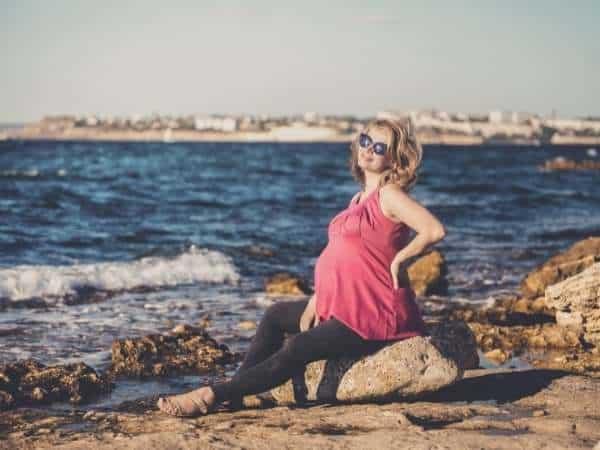 fotos de grávida na praia