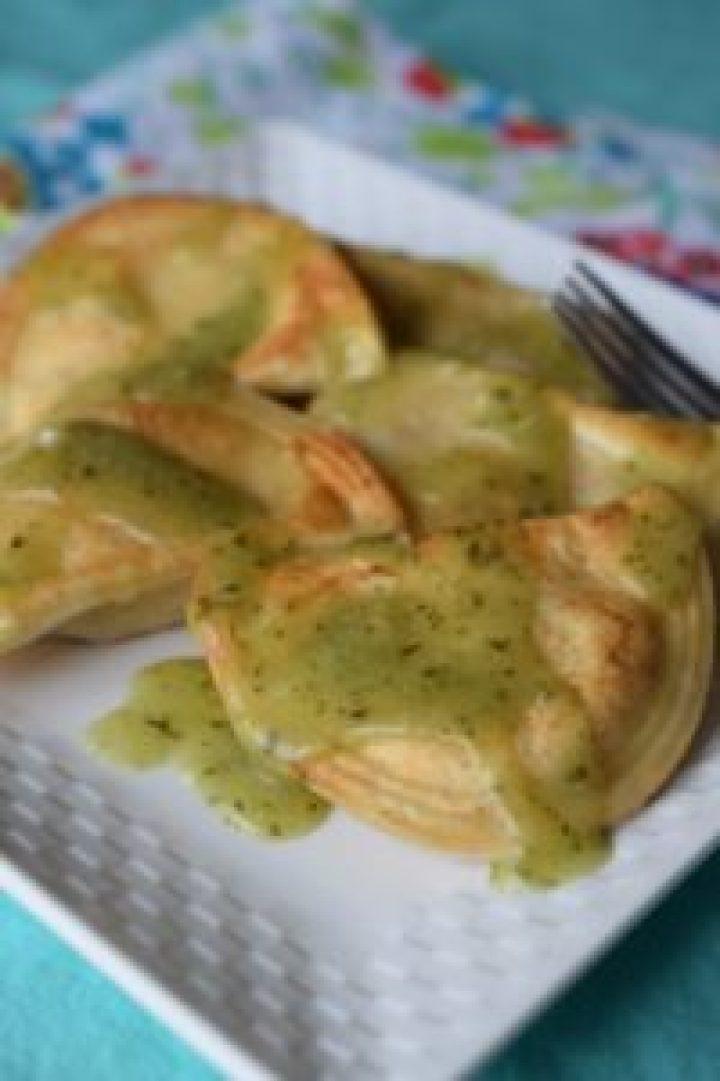 Basil Garlic Butter Pierogi