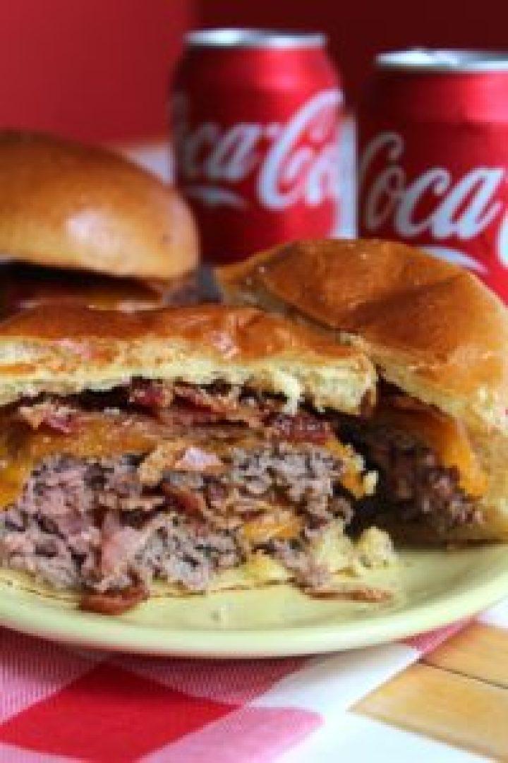 Bacon Cheddar Stuffed Burgers