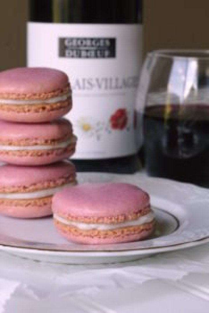 Red Wine French Macarons