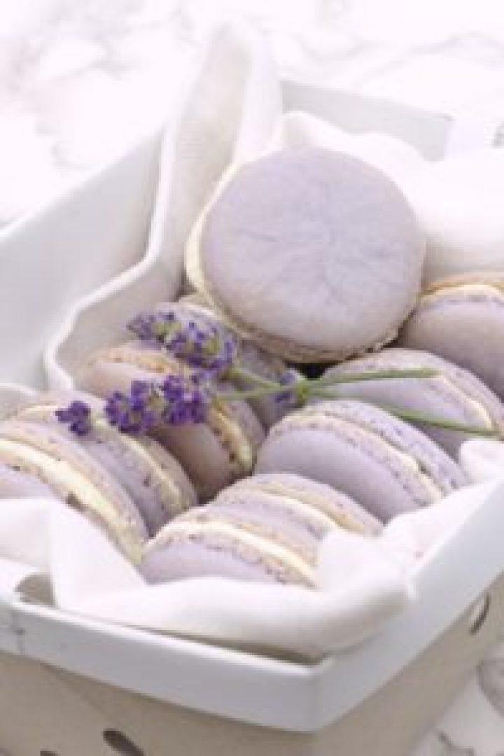Lavender Lemon Macarons