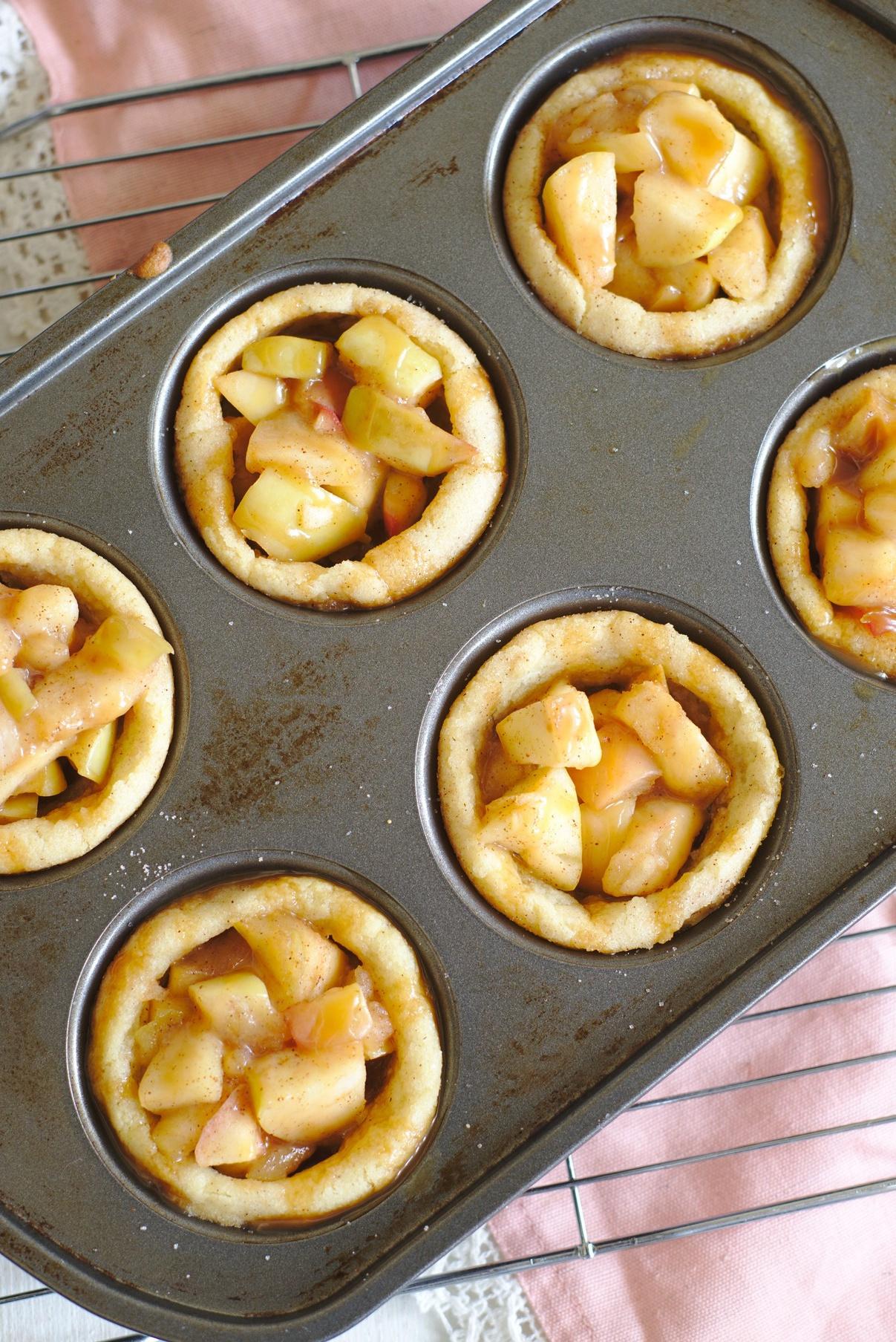 Caramel Apple Cookie Cups