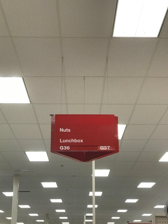 Sign at Target