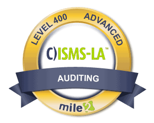 Security Management Systems Lead Auditor badge