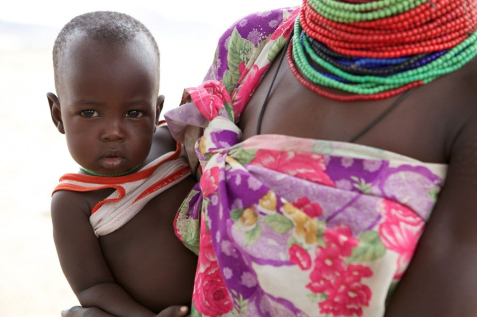 mother and baby in Turkana, Kenya