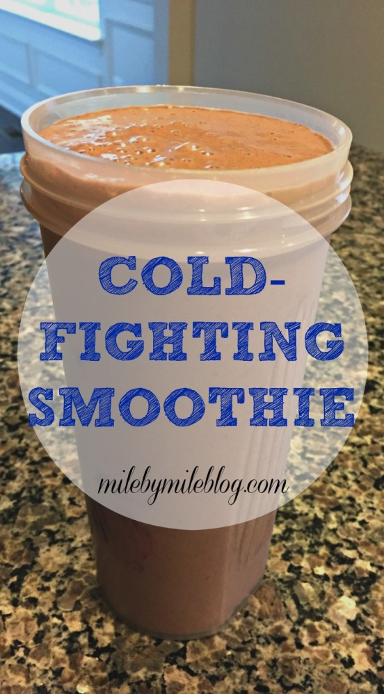 Cold-Fighting Smoothie: A delicious smoothie with all the nutrients to help you stay healthy and recover from or prevent a cold!