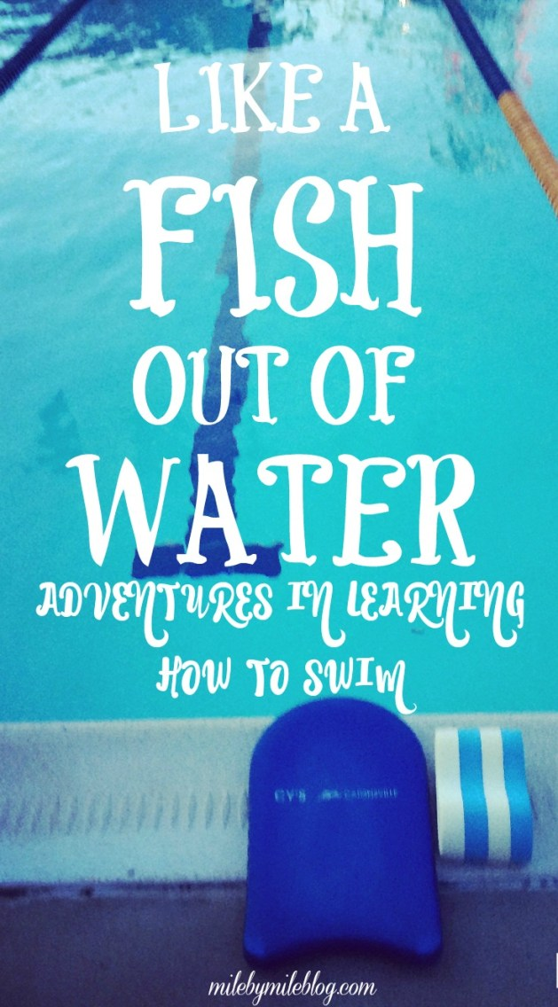 What's worse than a fish out of water? How about a runner trying to learn how to swim? #running ?swimming