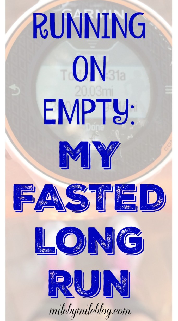 Ever thought about trying a fasted long run? Learn about my experience trying a glycogen depleted long run as part of marathon training. #longrun #training #marathon #running
