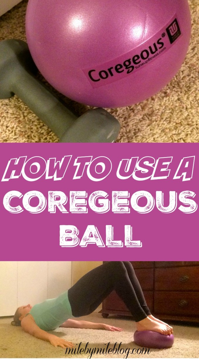A Coregeous Ball can be used for core work or for releasing the posts. Learn some simple ways to get started using this fitness tool.