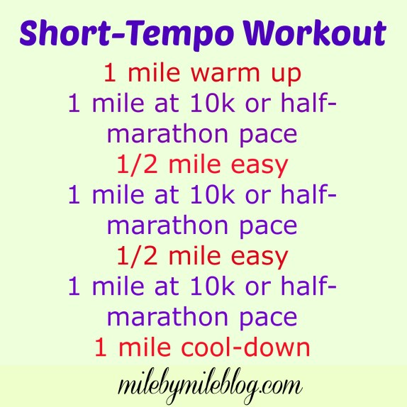 A tempo run workout to help you start to build up some endurance for holding harder paces #running #training #workout