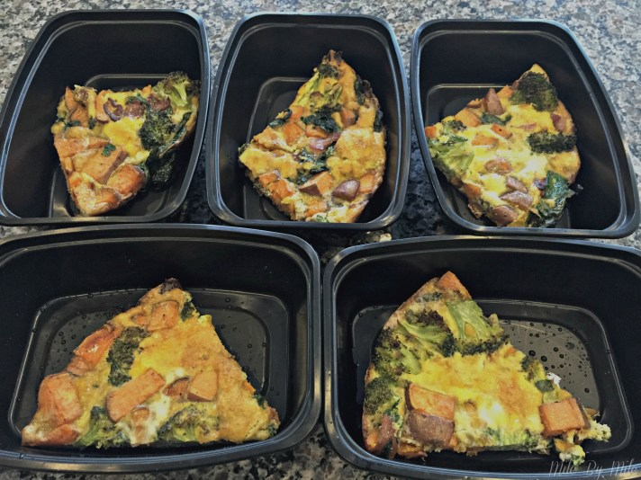 A make ahead breakfast with plenty of protein, nutrients and flavor to keep you satisfied for hours. This can be customized with different veggies too!