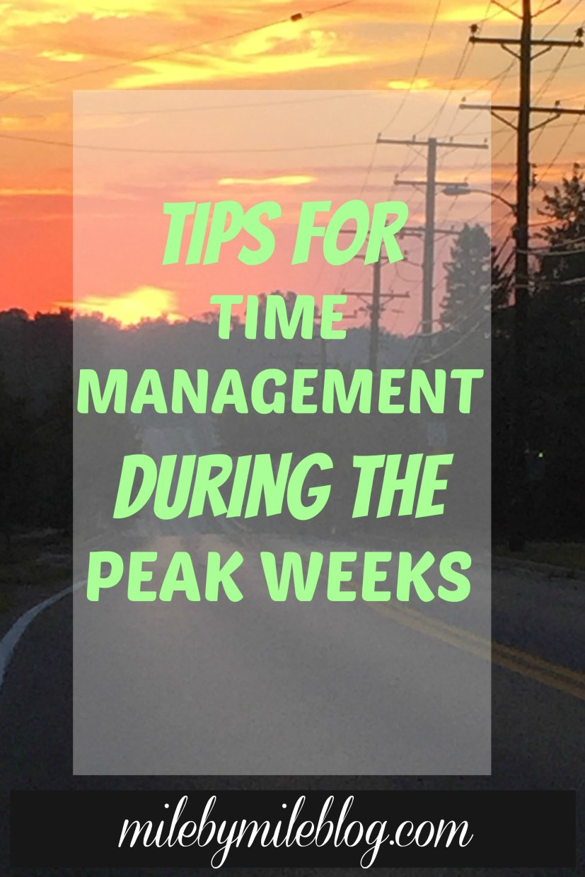Hitting the peak of marathon training? Here are some strategies for managing time while training.