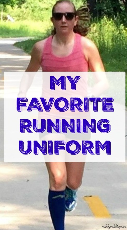 "We all have a few of our favorite running outfits! Here are a few of my go-tos that make up my ""running uniform""."