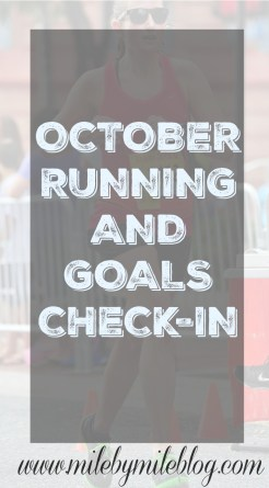 October running goals and check-in