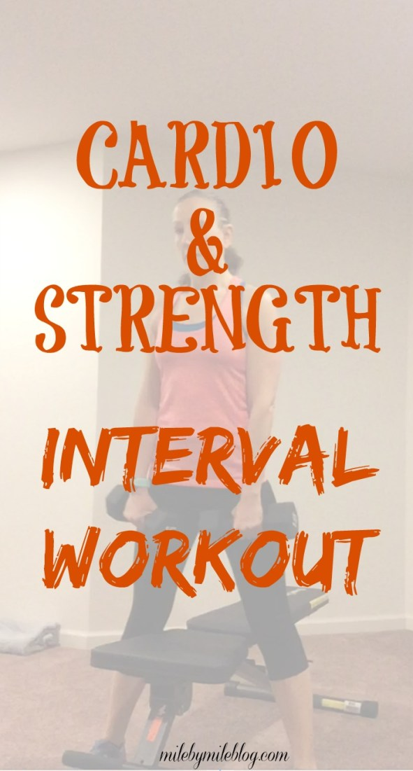 A challenging but fun interval workout that focuses on both cardio and strength training. In less than 90 minutes you will get your heart rate up, strength train your whole body, and get nice and sweaty!