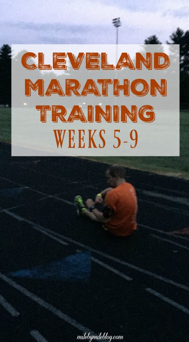 An update on coaching Rob for the Cleveland Marathon, Weeks 5-9.