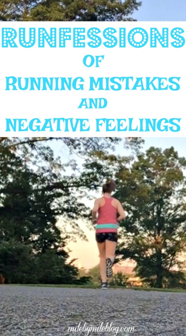 It's the last Friday of the month which means its time for runfessions! Come read about my recent running mistakes and some negative feelings regarding my injury recovery.