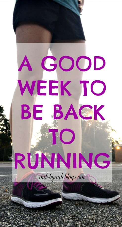 When running is a stress reliever, there is no better way to start the day during a busy week than with a run. Click post to read more about my workouts last week!
