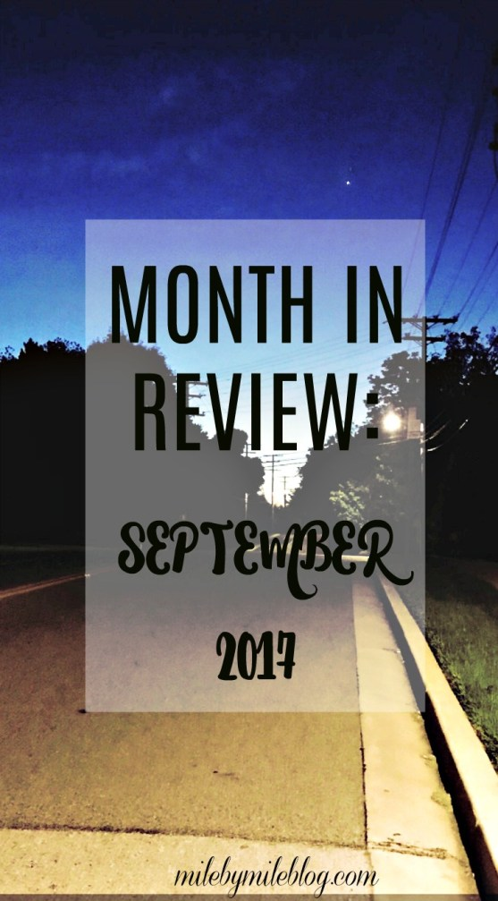 A look back on running, strength training, and other workouts during September.