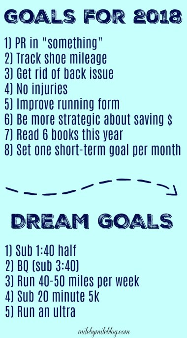 """It's that time of year to start planing ahead for 2018. I have set some goals for the year, as well as some """"dream goals"""". Click post to read more."""