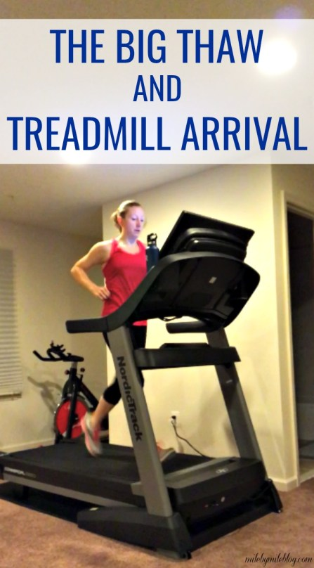 Last week the weather finally started to warm up, just in time for my treadmill to arrive. Read about my weekly workouts including lots of treadmill runs! #run #running #treadmill