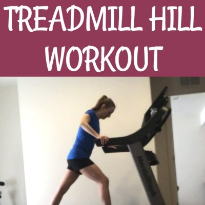 The Lazy Runner's Short and Sweet Treadmill Hill Workout