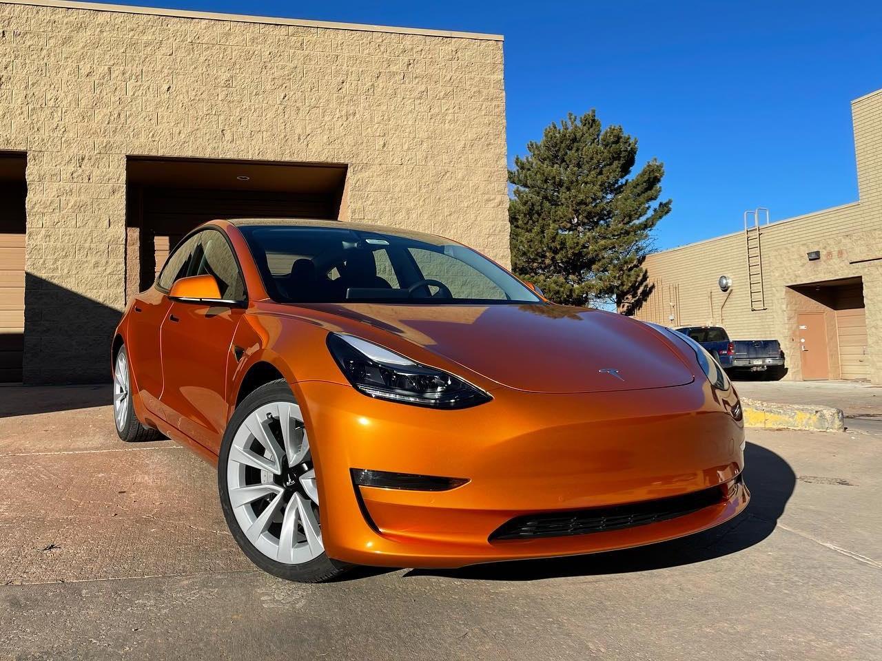 Tesla Model 3 window tint front view