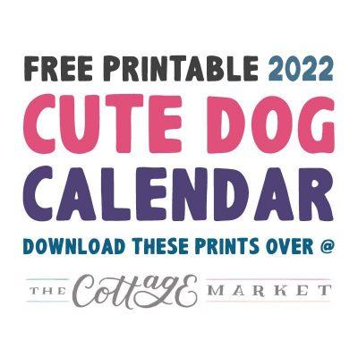 免费打印2022可爱狗日历