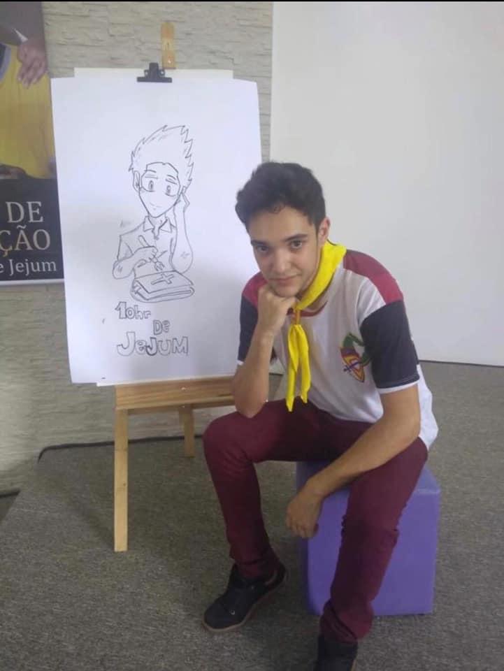 Samuel Melquíades tinha 16 anos. Era religioso e no Facebook pode ver-se que tinha uma ligação muito próxima à família. Gostava de desenhar e pintar e tinha como principal sonho ser artista como o pai. Foto: Facebook