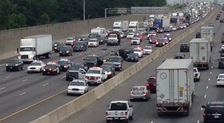 Female pedestrian struck and killed by transport truck on Highway 401 in east-end Toronto